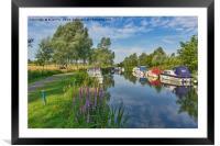Summer river scene, Framed Mounted Print