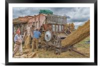 Farming Yesteryear, Framed Mounted Print