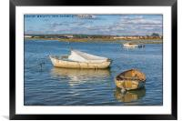Across the water, Framed Mounted Print