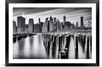 NYC monochrome, Framed Mounted Print