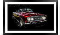 Classic Car, Framed Mounted Print