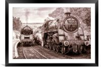 Steam and Steam, Framed Mounted Print