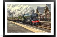 Flying Scotsman at Dent Station, Framed Mounted Print