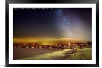 Lights Of Milky Way Over Gunfleet Windfarm 2, Framed Mounted Print