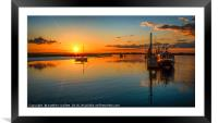 Titchmarsh Marina Essex April 2016 Sun Setting, Framed Mounted Print