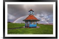 Rainbows Over Frinton Clocktower, Framed Mounted Print