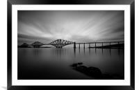 Forth Bridge Black & White, Framed Mounted Print