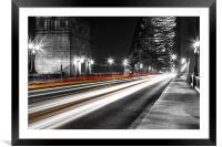 Tyne Traffic, Framed Mounted Print