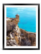 Castell de Santa Barbara in Alicante, Framed Mounted Print