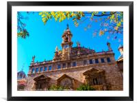 Valencia old town, Framed Mounted Print