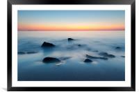 Pre-dawn colours at Embleton bay, Northumberland, Framed Mounted Print