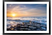 Kilve Beach Sunset, Framed Mounted Print
