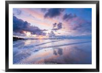 Chapel Bay Sunset, Conrwall, Framed Mounted Print