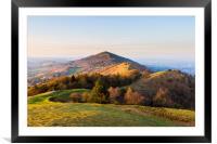 Malvern Hills at golden hour, Framed Mounted Print
