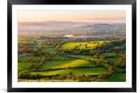 The rolling Herefordshire hills, Framed Mounted Print