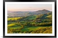 Worcestershire beacon and the rolling hills at the, Framed Mounted Print