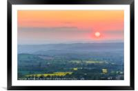 Herefordshire sunset, Framed Mounted Print