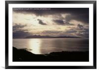 Sunset, Isle of Rhum, Scotland, Framed Mounted Print