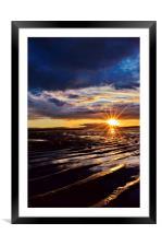 Sunset on Stevenston Beach, Framed Mounted Print