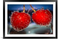 Cherries and bubbles, Framed Mounted Print