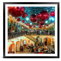 Christmas at Covent Garden, Framed Mounted Print