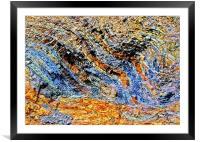 Colour of Rock, Framed Mounted Print