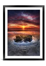 Westward Ho! Sunset, Framed Mounted Print