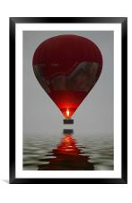 Red Balloon reflection, Framed Mounted Print