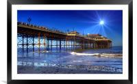 Spotlight on Cromer Pier, Framed Mounted Print