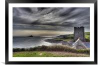 Rain Clouds over The Mewstone, Framed Mounted Print