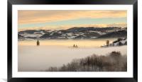 A sea of fog, Framed Mounted Print