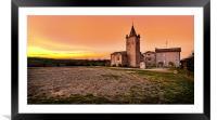 Sunset at Villabianca, Framed Mounted Print