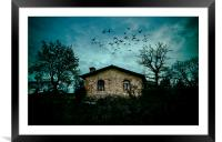 The little house on top, Framed Mounted Print