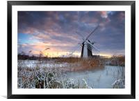 Winter at Herringfleet, Framed Mounted Print