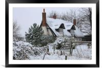 The Cottage in the Snow, Framed Mounted Print