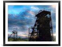 Coal Pit Head, Framed Mounted Print