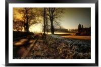 ON A COLD AND FROSTY MORNING, Framed Mounted Print