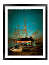 HMS Warrior, Framed Mounted Print