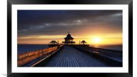 On Clevedon Pier Sunset, Framed Mounted Print