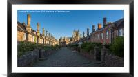 Vicar's Close, Wells Cathedral, Somerset, England, Framed Mounted Print