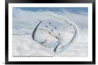 The Royal Air Force Aerobatic Team or Red Arrows, Framed Mounted Print