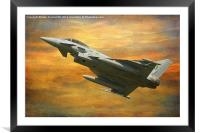 Typhoon, Framed Mounted Print