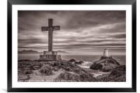 Lighthouse on Llanddwyn Island, Framed Mounted Print