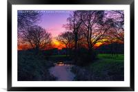 Colourful Sunset, Framed Mounted Print