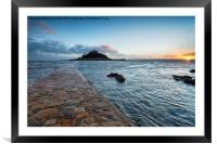 Sunset at Marazion, Framed Mounted Print