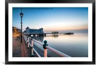 Dawn at Penarth Pier, Framed Mounted Print