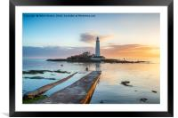 St Mary's Island at Whitley Bay, Framed Mounted Print