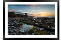Keiss Castle at Caithness in Scotland, Framed Mounted Print