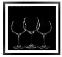 Wine Glasses, Framed Mounted Print
