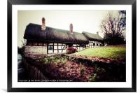 Anne Hathaways Cottage, Framed Mounted Print